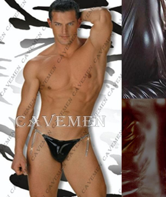 Metal chain Leatherwear and Furs Male G-string * 2116 * T-Back Thong G-String T pants Brief Underwear free shipping