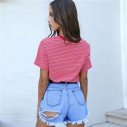Bigsweety w stylu Vintage w paski T koszula nowa moda ubrania dla kobiet lato topy list lat 90-tych dziecko drukowane Tshirt Harajuku Streetwear 3