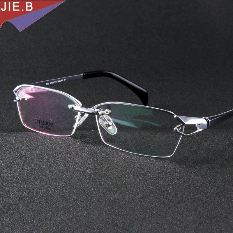 Pure din ochelari din titan cu ochelari din ramă design unic pentru bărbați Ochelari costum citire ochelari clare optice prescripții gafas ochelari