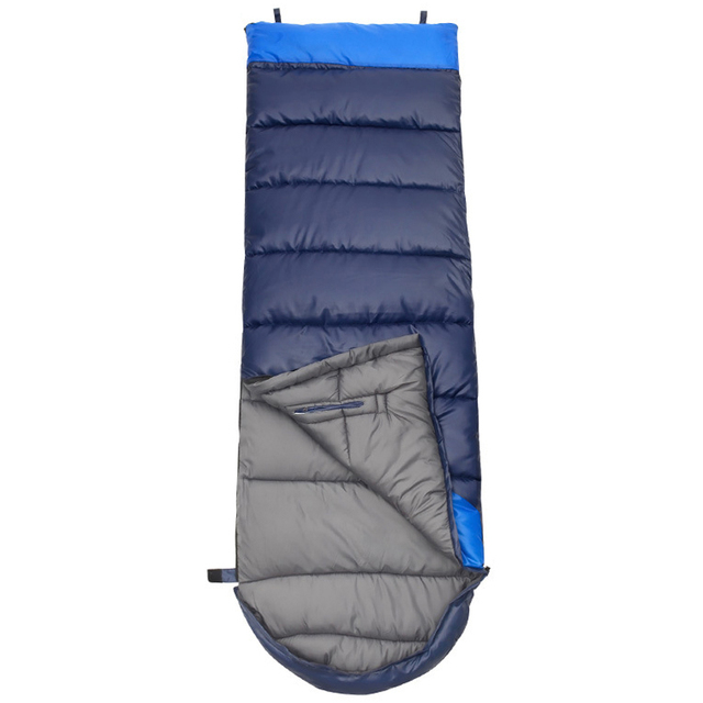 2017 Adults' 3 Season Hollow Cotton Splicing Sleeping Bags Outdoor Sports Thick Hiking Camping Climbing Warm Sleeping Bag VK023