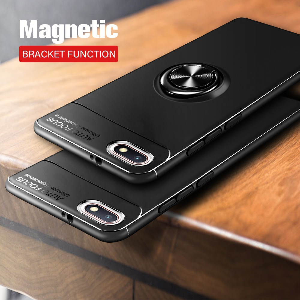 Case for <font><b>xiaomi</b></font> <font><b>redmi</b></font> <font><b>6a</b></font> case Finger Ring Magnet Matte Armor Shockproof protector Thin Back Cover for <font><b>redmi</b></font> <font><b>6a</b></font> bumper case image