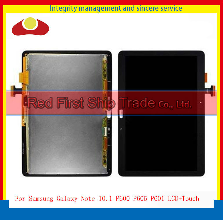 Original For Samsung Galaxy Note 10.1 2014 Edition P600 P601 P605 M16C Touch Screen Digitizer+LCD Display Assembly Complete new 10 1 lcd combo for samsung galaxy note 10 1 sm p600 p605 p600 lcd display touch screen digitizer glass assembly with frame