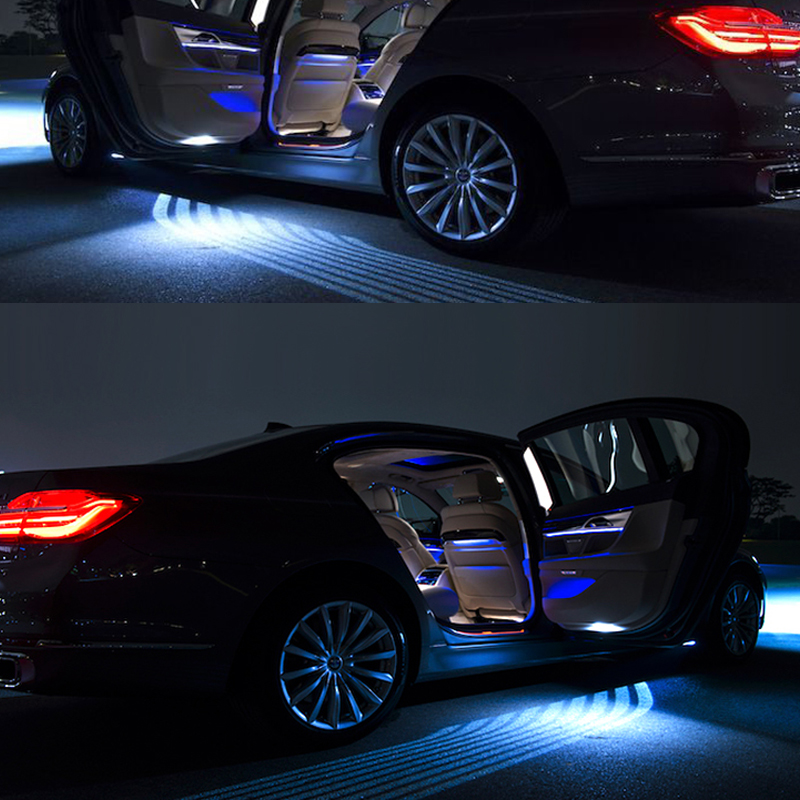 2018 Led car styling for volkswagen bmw ford focus 2 mercedes Angel Wing Auto Carpet  projection lamp Welcome Light automobiles 2pcs 12v 31mm 36mm 39mm 41mm canbus led auto festoon light error free interior doom lamp car styling for volvo bmw audi benz