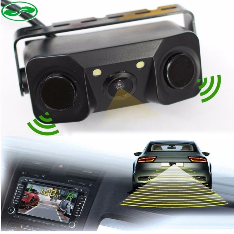 DHL 10 PCS New 3 in 1 170 Wide Angle Waterproof Car Reverse Rear View Camera