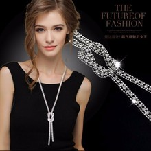 Long adornment necklace restoring ancient ways women sweater chain Spring/summer dress best match jewelry accessories