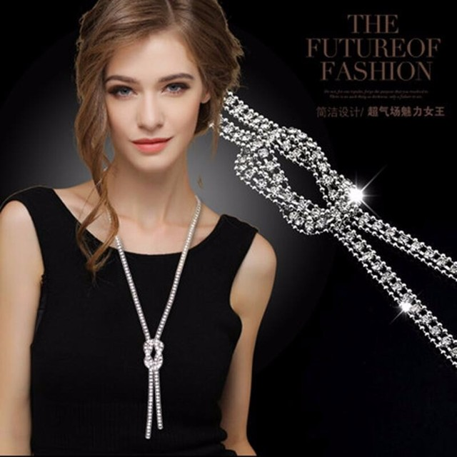 a5b0b1688 Long adornment necklace restoring ancient ways women sweater chain  Spring summer dress best match jewelry accessories