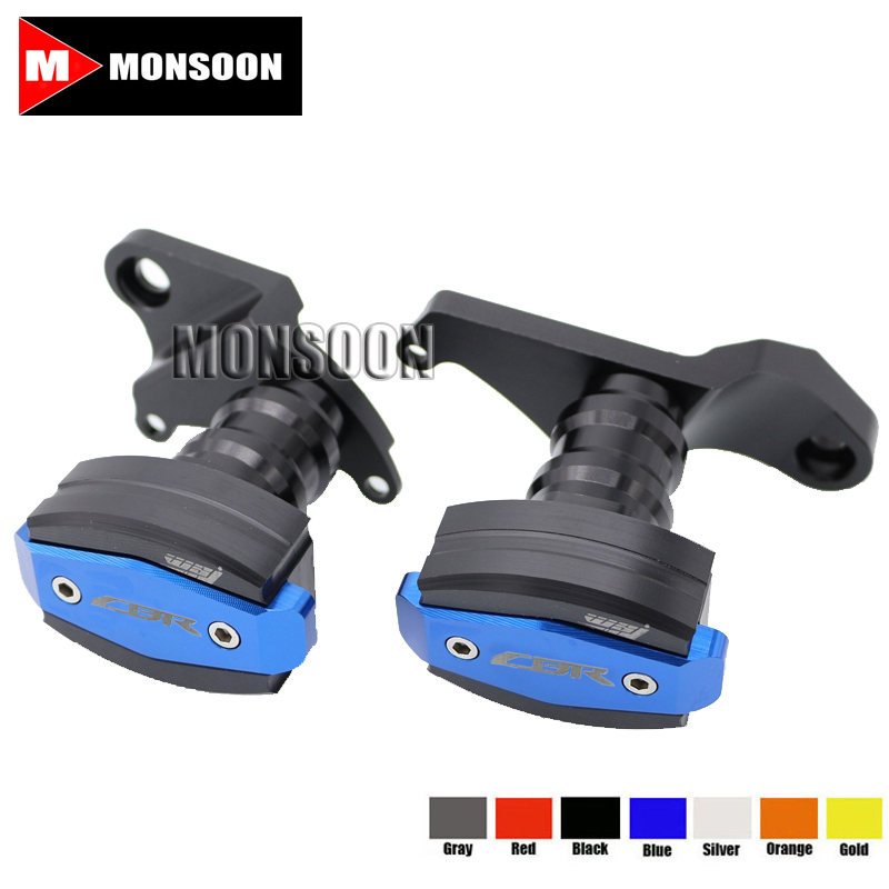 For HONDA CBR500R CBR 500R 2013-2015 Motorcycle Body Frame Sliders Crash Protector Motorbike Falling Protection Blue
