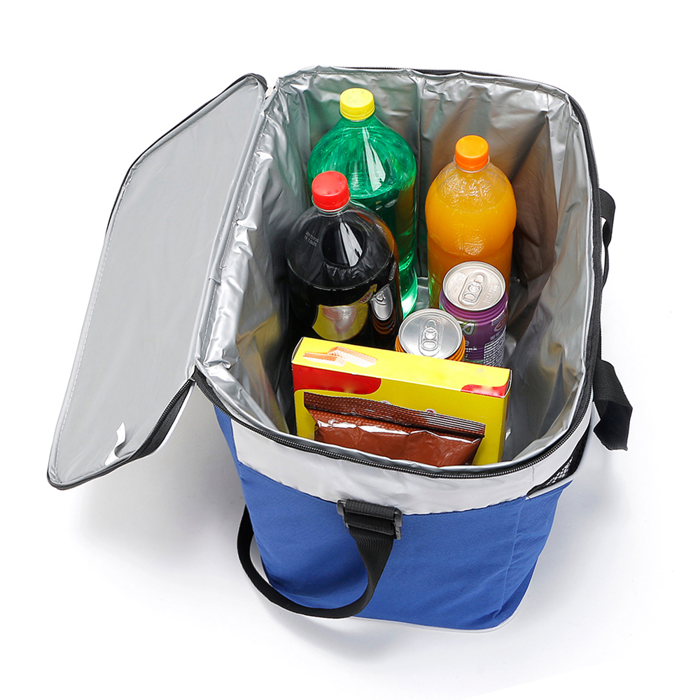 Image 5 - Lixada 34L Outdoor Insulated Bag Cooler Lunch Tote Thermal Bento Bag Camping BBQ Picnic Food Freshness Insulated Cooler Bag-in Picnic Bags from Sports & Entertainment