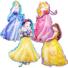 1PC 93*55cm Cartoon Princess Foil Balloon Girls Birthday Party Decoration Helium Ballons Kids Toys
