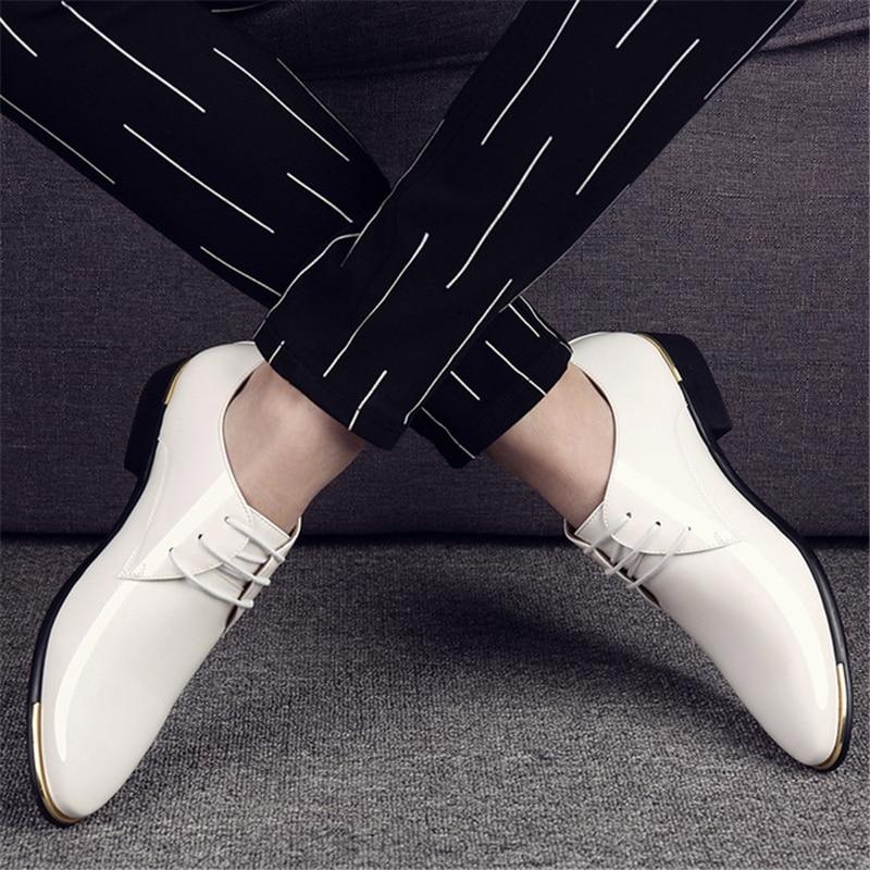 Preto Masculinos Sólida Apontado Homens branco marrom Sapatos azul Moda Do Dedo Aa60523 De Respirável Até Rendas Clássico Vestido Casamento Luxo Noivo YqYgT