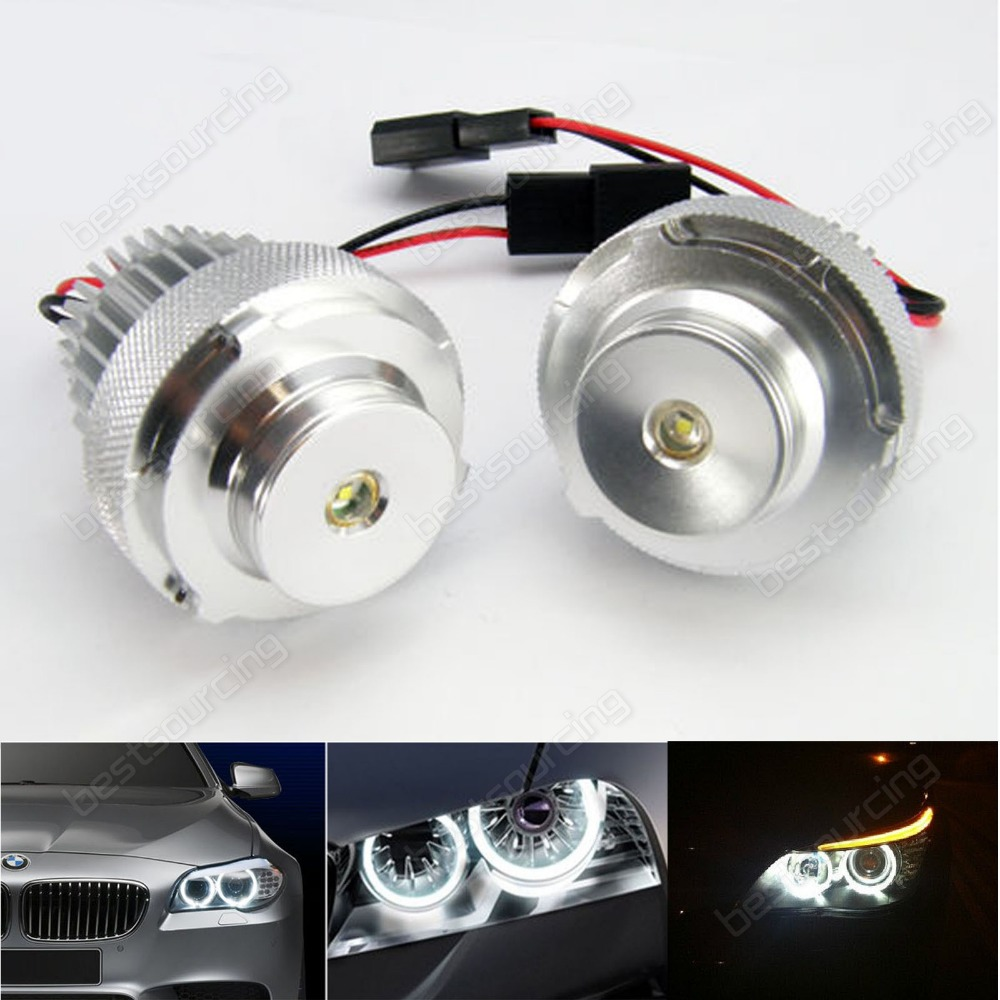 2x10w lci headlight 20w cree led marker angel eyes for 5 series e60 e61 lci with