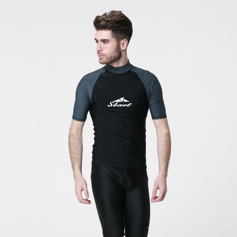 c36ddcb9048 2016 Sbart uv swimsuit girls boys swimming shirts t shirts surf mens swim  wear shirts wetsuit top men long sleeve swimwear-in Men s Body Suits from  Sports ...