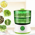 Цифровой домашний DIY Sprouts Bean Maker 2-слойный автоматический Электрический Germinator семян овощей сеялка роста ведро Biolomix