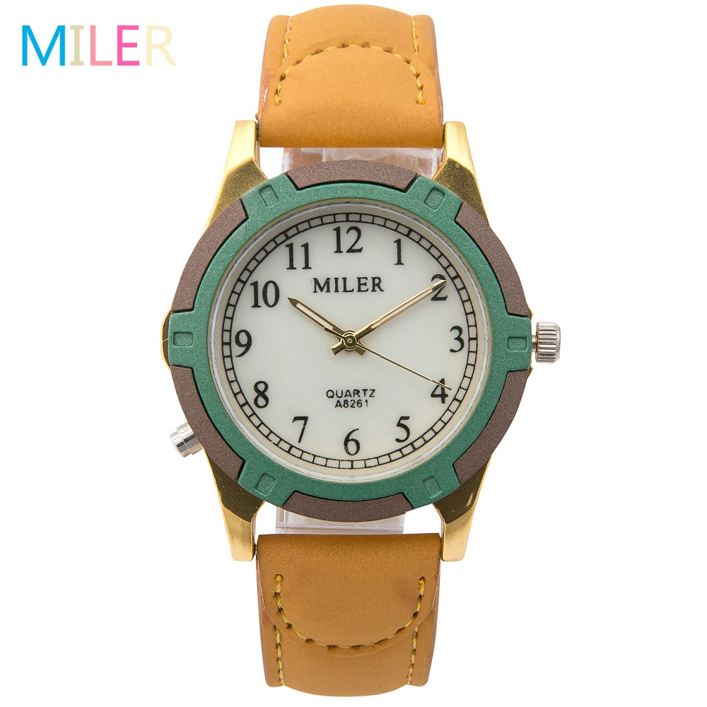 new fashion brand miler watches leather