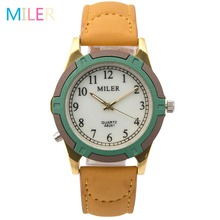 New Fashion Brand MILER Women Watches Leather Strap Luminous Pointer Quartz Watch Sport Watch Female Wristwatch Relogio Feminino