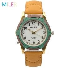 New Fashion Brand MILER Women Watches Leather Strap Luminous Pointer Quartz Watch Sport Watch Female Wristwatch Relogio Feminino