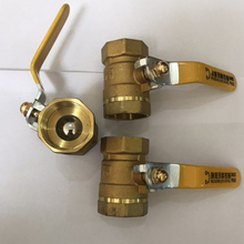 цена на Brass ball valve DN40/50/25/32/20/15/65/100 Female Thread Ball Valve Brass Connector Joint Copper Pipe Fitting Coupler Adapter