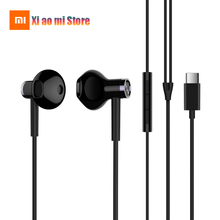 Xiaomi Noise Canceling Type-C Dynamic Driver Earphone In-ear Earbuds Mic Wire Control Dual Driver USB Headset Original Xiaomi original xiaomi anc earphone type c noise cancelling earphone wired control with mic for xiaomi max 2 mi6 smartphone hybrid hd