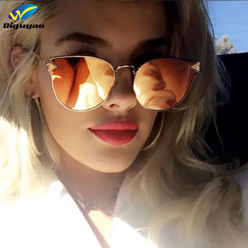 0ba02d779bda DIGUYAO Brand 2018 Cat Eye New Arrival Arrow Shapes Full Metal Sunglasses  Women Or Men Sun Flat Glasses Female Oculos de sol-in Sunglasses from  Apparel ...