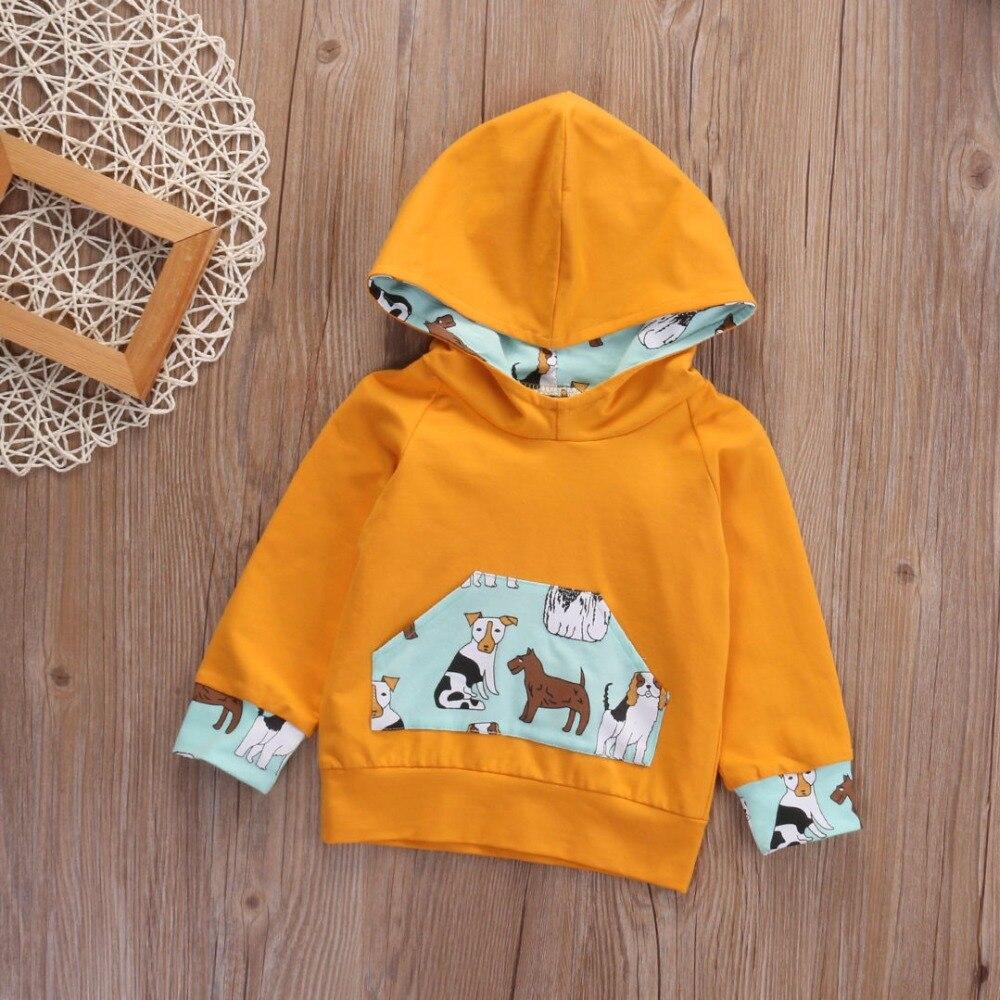Odzież dziecięca dla dzieci Nowa bluza z kapturem Solidne bluzy z - Odzież dla niemowląt - Zdjęcie 3