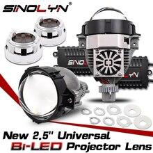 Sinolyn 2.5 Bi LED עדשת עיני מלאך פנס עדשות H4 H7 H1 9005 9006 מקרן LED עבור אוטומטי רכב אורות אביזרי Retrofit