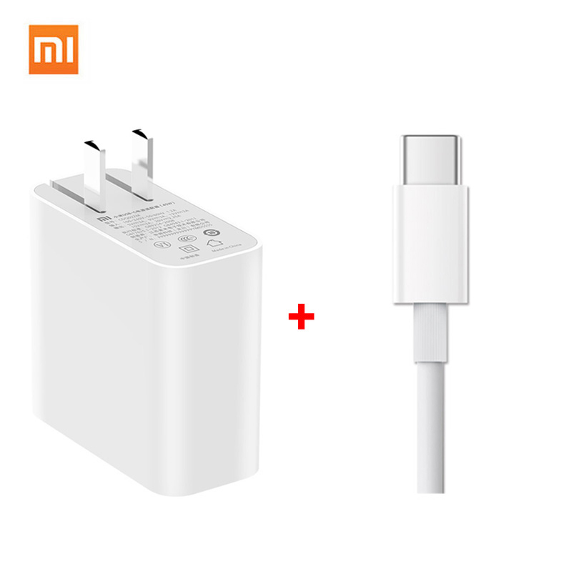 Xiaomi USB C Charger 45W 65W QC 3.0 USB plug Type C Cable Adapter Mi Phone laptop air PRO 12.5 13.3 15.6 PD 2.0 Quick charge-in Mobile Phone Chargers from Cellphones & Telecommunications
