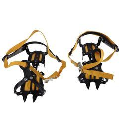 1 Pair of Bundled Crampons Professional 10-point Manganese Steel Ice Gripper Ice Crampons Snow Board for Climbing Trekking Ski