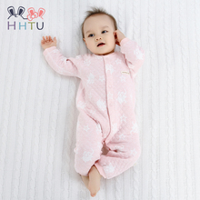HHTU Baby Rompers Clothes Quilted Long Sleeve Clothing Jumpsuits Newborn Cotton Girls Boys Autumn Spring Boneless Sewing