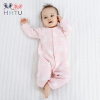 HHTU Baby Rompers Clothes Quilted Long Sleeve Clothing Jumpsuits Newborn Cotton Baby Girls Boys Autumn Spring