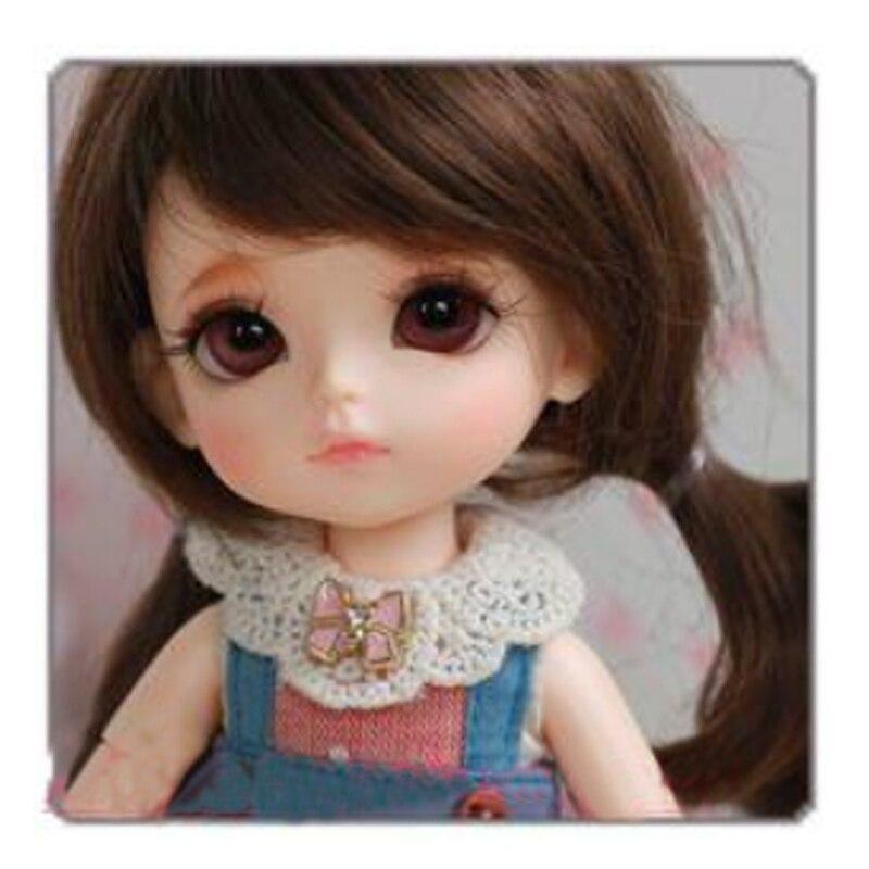 bjd / sd 1/8 dolls Lati yellow Happy AoaoMeow 1 3 1 4 1 6 1 8 1 12 bjd wigs fashion light gray fur wig bjd sd short wig for diy dollfie