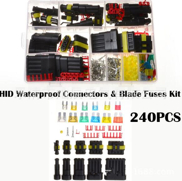 M3-240pcs HID auto waterproof connector + car safety box