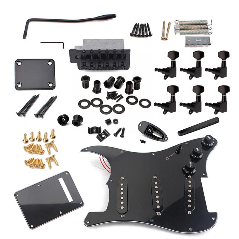 Image 5 - DIY Electric Guitar Kit Pickguard Back Cover Bridge System ST Style Full Accessories Kit For Guitar Replacement Parts-in Guitar Parts & Accessories from Sports & Entertainment
