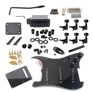 Image 5 - DIY Electric Guitar Kit Tuning Pegs Pickguard Back Cover Bridge System ST Style Full Accessories Kit For Guitar Parts
