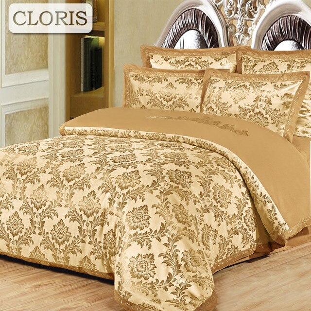 CLORIS Hot Bedclothes Noble Bedding Kit Best Cotton Duvet Quilt Covers Bed  Sheet Coverlet Bed Cover
