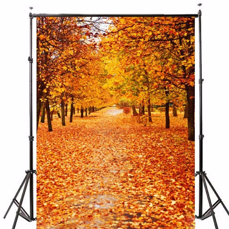 5x7ft Vinyl Photography Background Autumn Leaves Studio Photo Prop photographic Backdrop cloth waterproof 1.5x2.1m shanny autumn backdrop vinyl photography backdrop prop custom studio backgrounds njy33