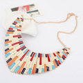 2015 hot sell Gold Plated Alloy Colorful Big Enamel Bib Statement Collar Necklace for Fashion Decoration 56IP