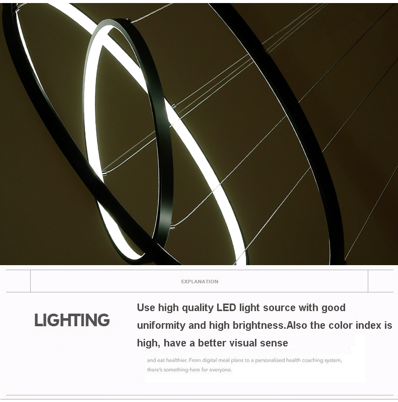 HTB1KufwqhuTBuNkHFNRq6A9qpXat 60CM 80CM 100CM Modern Pendant Lights For Living Room Dining Room Circle Rings Acrylic Aluminum Body LED Ceiling Lamp Fixtures