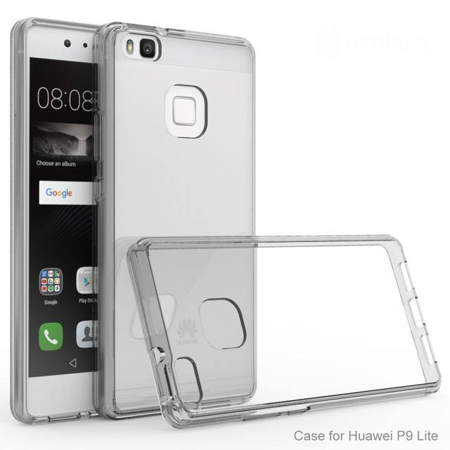 detailed look b703f 71f12 for Huawei P9 Lite Case Cover P9 Lite Transparent Back Cover Impact  Shockproof Rugged Clear Case on for Huawei P9 Lite (2016)-in Fitted Cases  from ...