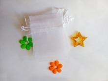 9*12 cm 1000 pièces Multi couleur cadeau sacs pour bijoux/mariage/noël/anniversaire sac de fil avec poignées emballage cadeaux Organza sacs