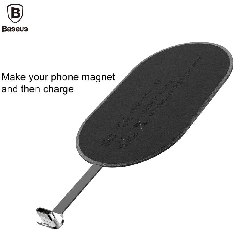 BASEUS Brand Microfiber Qi Wireless Charging Receiver ( 8 Pin / Type-C / Micro Interface) For iPhone 7 6 Plus/Samsung Universal