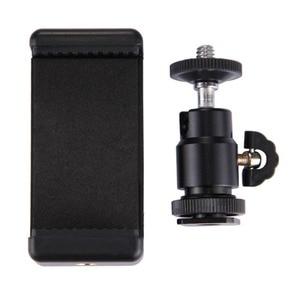 """Image 3 - Mini Bóng Đầu 1/4 """"Gắn Với Khóa Hot Shot Adapter Có Giá Đỡ Điện Thoại Kẹp Cho Máy Ảnh Đèn LED Flash giá Đỡ Gắn"""