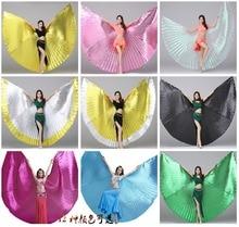 2019 Nieuwe Vrouwen Hoge Kwaliteit Buikdans Isis Wings Oosterse Ontwerp Nieuwe Vleugels Zonder Sticks 13 Kleuren