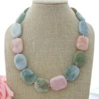 N082409 20 Multi Color Morganite Necklace