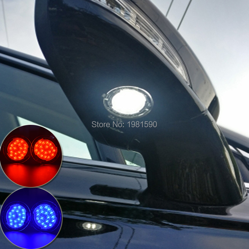 2PCS Car LED Puddle Light For Ford Edge Mondeo MK5 Fusion Flex Explorer Taurus Mustang F150 Car Under Mirror Lamps