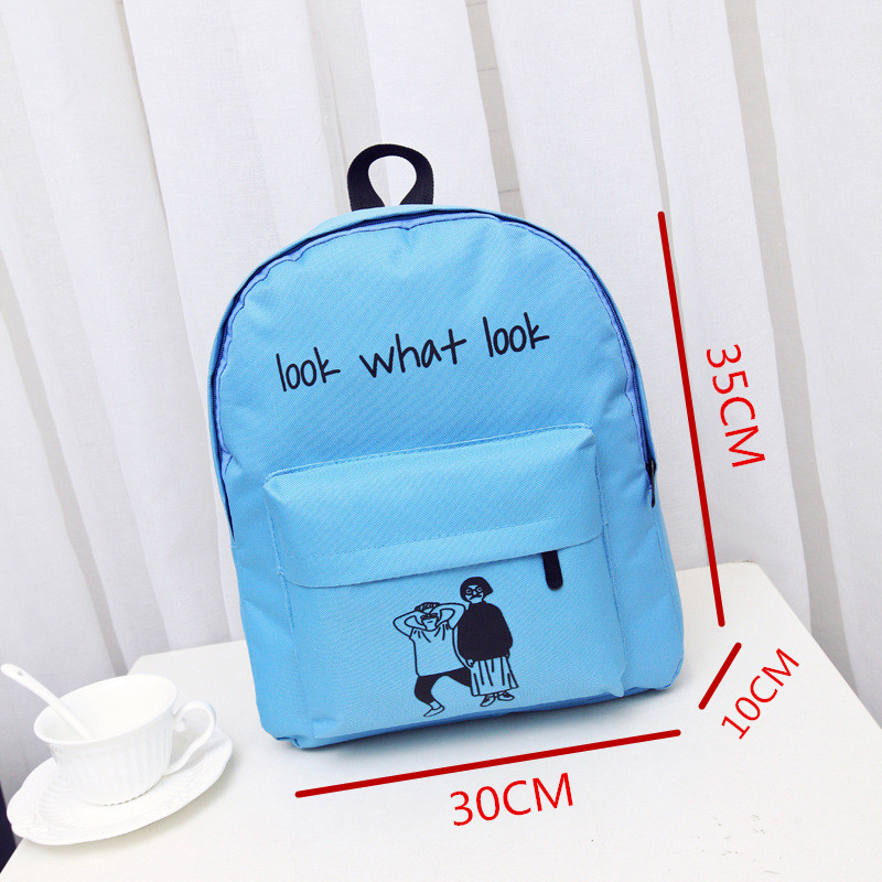Trendy backpack boys and girls junior high school students bag cartoon  canvas wild backpack-in Backpacks from Luggage   Bags on Aliexpress.com  de4b0369f050b