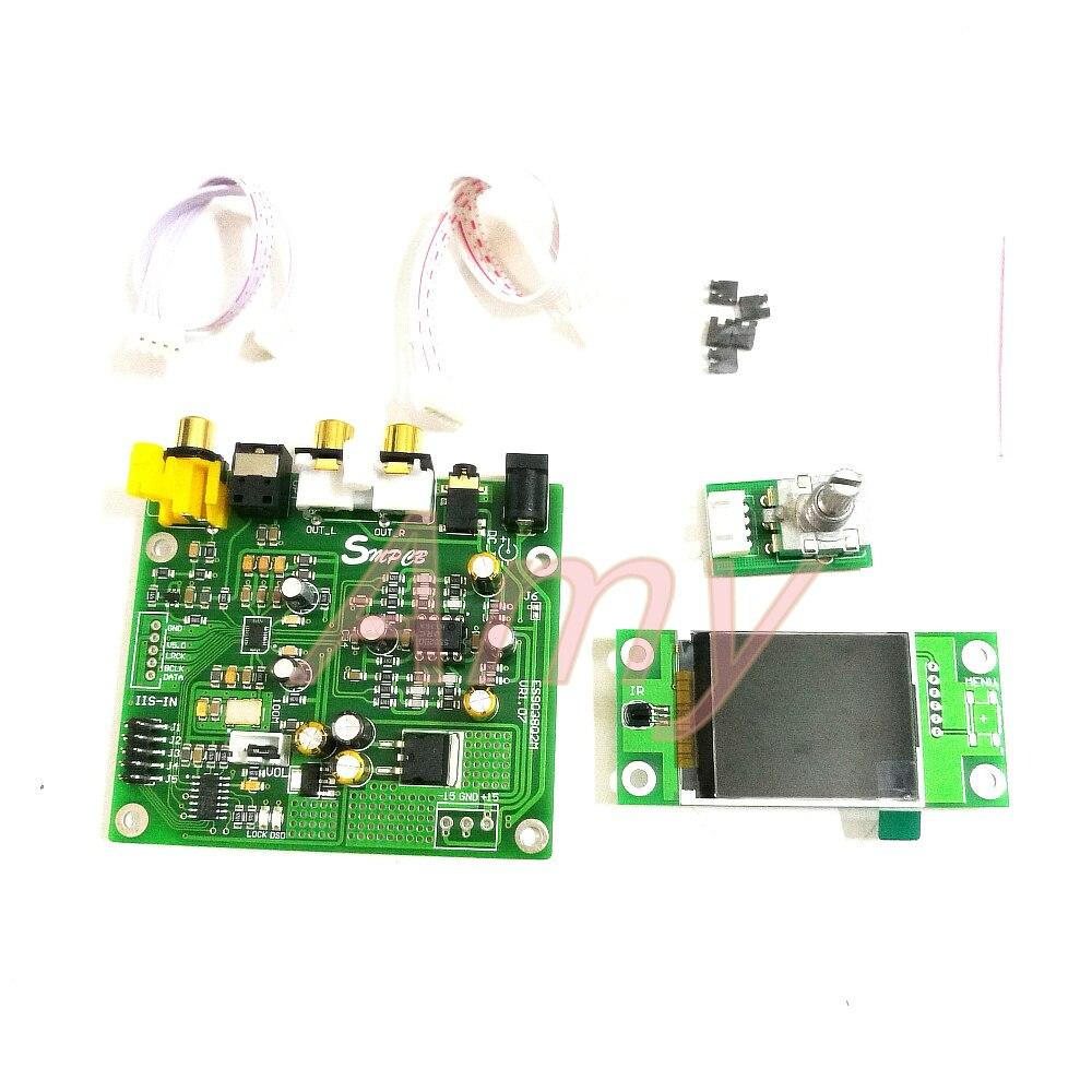 ES9038 Q2M DAC DSD décodage conseil soutient IIS DSD 384 khz coaxial fiber de DOP