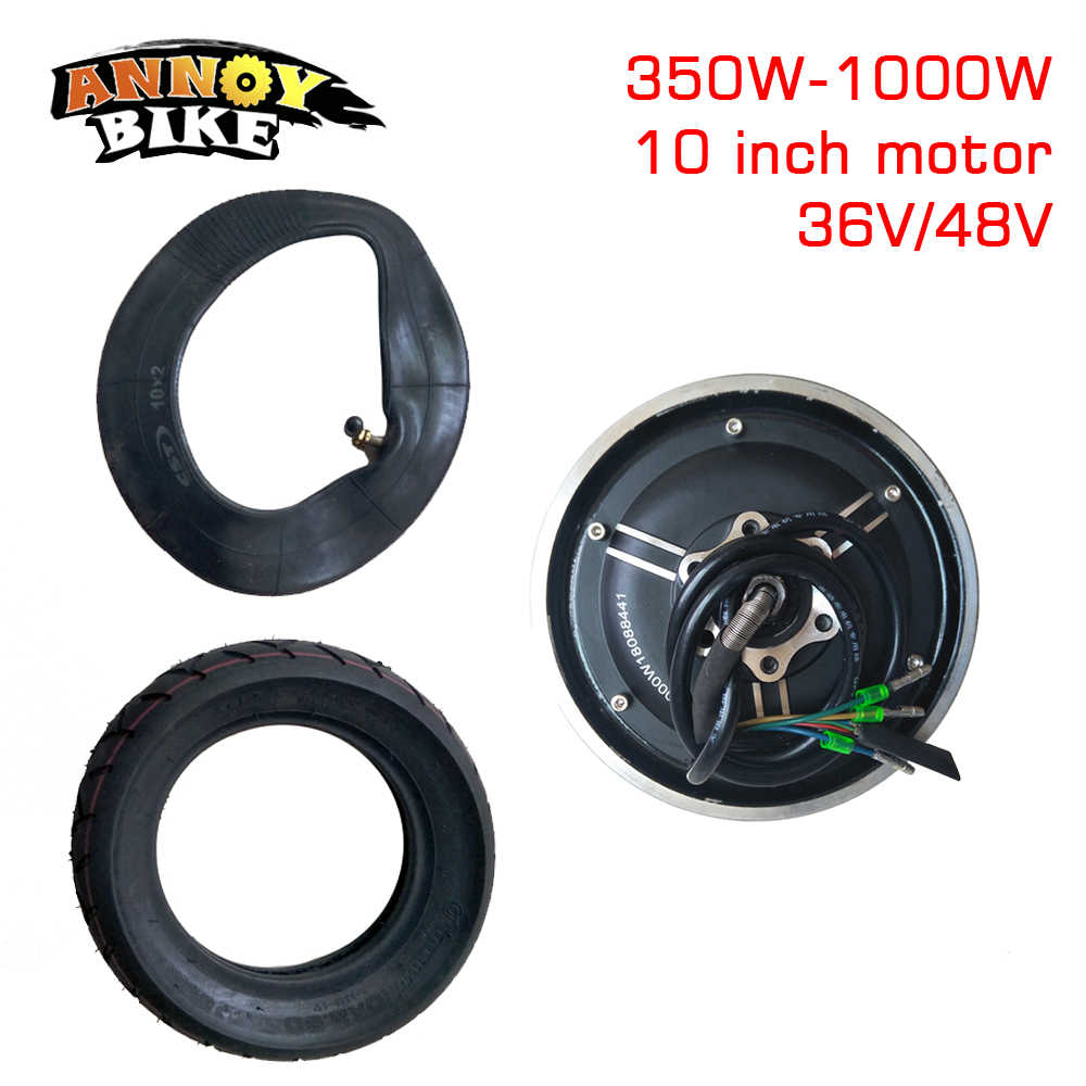 10Inch 36V48V350W-1000WMotor Vacuum Tire Conversion kit Electric Scooter Motor Parts Modified DIY Wheel Brushless Motor