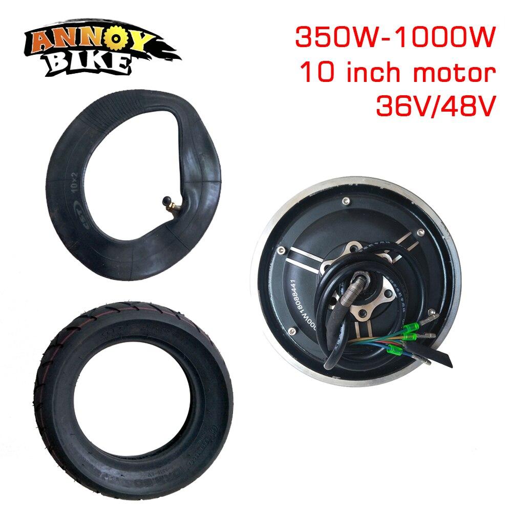 10 дюймов 36V48V350W-1000WMotor вакуумные шины конверсионный комплект электрический скутер Мотор Запчасти изменение DIY колесный бесщеточный двигател...