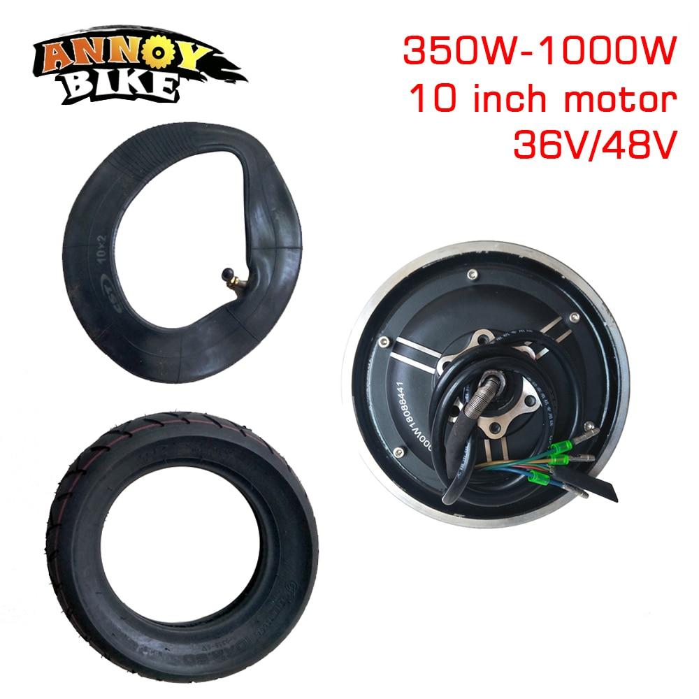 Kit de Conversion de pneu sous vide de 10 pouces 36V48V350W-1000WMotor pièces de moteur de Scooter électrique moteur sans brosse de roue de bricolage modifié