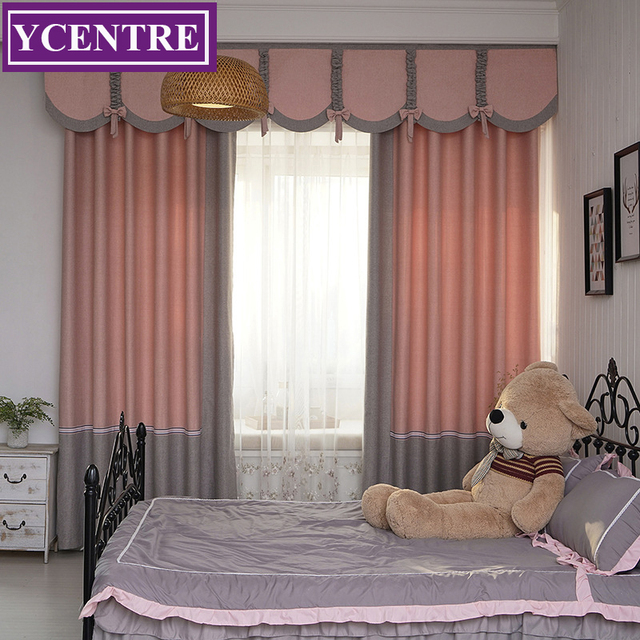 Wonderful YCENTRE Decorative Window Drapes Joining Together Pink Curtain/Rideau Room  Darkening Curtains For Bedroom/Livingroom/kids Room